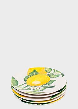Набор из 6-ти тарелок для салата Villa Grazia Солнечный лимон 21см, фото