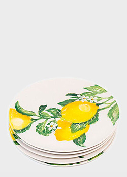 Набор из 6-ти тарелок Villa Grazia Солнечный лимон 29см, фото