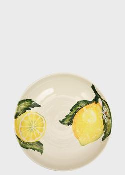 Тарелка для супа Villa Grazia Солнечный лимон 24,5х4,5см, фото