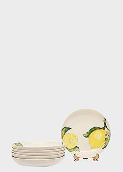 Набор тарелок Villa Grazia Солнечный лимон 24,5х4,5см 6шт, фото