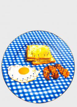 Тарелка Seletti Toiletpaper New Breakfast 27см, фото
