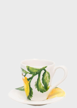 Чашка чайная с блюдцем Villa Grazia Солнечный лимон, фото