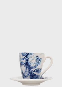 Чашка с блюдцем Villa Grazia Вечерний гранат высотой 10,5см, фото