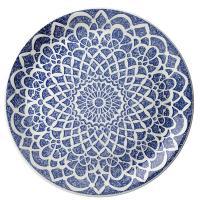 Тарелка Steelite Nomad Blue с узором 30см, фото