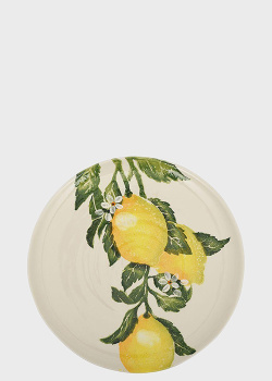 Блюдо Villa Grazia Солнечный лимон 33см с рисунком лимона, фото