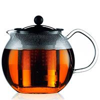 Заварочный чайник Bodum Assam черного цвета 1,5л, фото