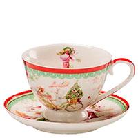 Кофейная чашка с блюдцем Palais Royal Теплые поздравления, фото