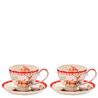 Набор Palais Royal Теплые поздравления из 2 чашек для чая с блюдцами, фото
