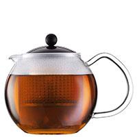 Заварочный чайник Bodum Assam с крышкой черного цвета 0,5 л, фото