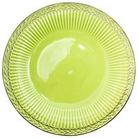 Тарелка обеденная Bizzirri Venezia Verde зеленая, фото