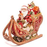 Емкость Fitz and Floyd Санта с подарками на санях, фото