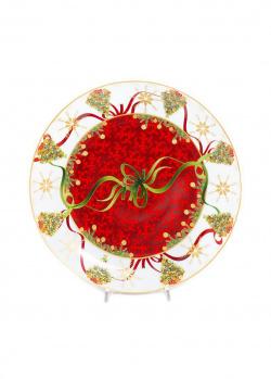 Красное блюдо Palais Royal Яркие завитки 31см, фото