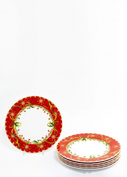 Набор обеденных тарелок Palais Royal Яркие завитки 27см 6шт, фото