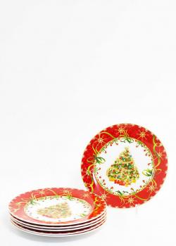 Набор десертных тарелок Palais Royal Яркие завитки 20см 6шт, фото