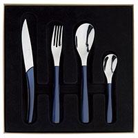 Набор столовых приборов Degrenne Paris Quartz синий 24 предмета , фото