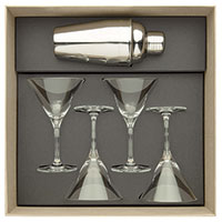Набор бокалов для мартини и шейкер Degrenne Paris Anytime, фото