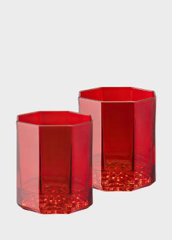 Набор стаканов из 2 шт Rosenthal Versace Medusa Lumiere Rhapsody Red для виски, фото