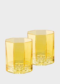 Набор хрустальных стаканов Rosenthal Versace Medusa Lumiere Rhapsody Amber 2 шт, фото