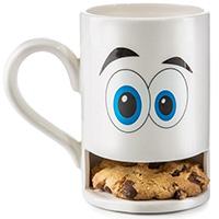 Белая чашка Donkey Monster с отделением для печенья, фото