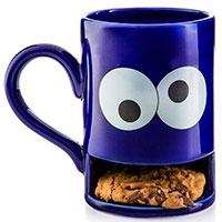 Кружка с отделением для печенья Donkey Monster синяя, фото
