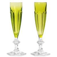 Бокалы для шампанского Baccarat зеленого цвета, фото
