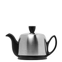 Чайник заварочный Degrenne Paris Salam 350 мл черный с колпаком из нержавеющей стали, фото