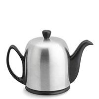 Чайник заварочный Degrenne Paris Salam 700 мл черный с колпаком из нержавеющей стали, фото