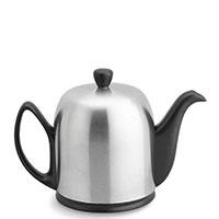 Чайник заварочный Degrenne Paris Salam 1000 мл черный матовый с колпаком из нержавеющей стали, фото