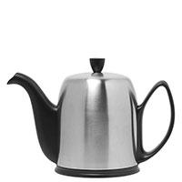 Чайник заварочный Degrenne Paris Salam 1300 мл черный матовый с колпаком из нержавеющей стали, фото