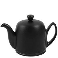 Чайник заварочный Degrenne Paris Salam 1000 мл черный матовый с алюминиевым колпаком, фото