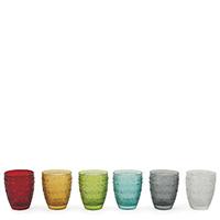 Разноцветный набор стаканов Villa D'este Mexico 6шт, фото