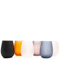 Набор цветных стаканов Villa D'este из матового стекла 6шт, фото