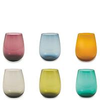 Набор цветных стаканов Villa D'este 6шт, фото
