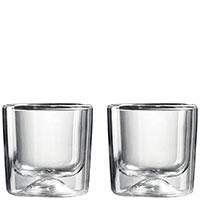 Набор стаканов с двойным дном Guzzini Gocce 270мл из 2 стаканов, фото