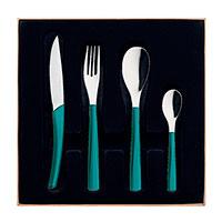 Набор столовых приборов Degrenne Paris Quartz Azur 24 предмета , фото