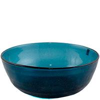 Стеклянный салатник Comtesse Milano Matisse синего цвета, фото