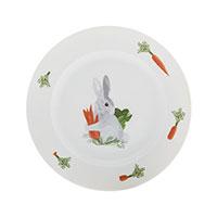 Фарфоровая тарелка Degrenne Paris Les Amis du Potager 20 см с зайцем, фото