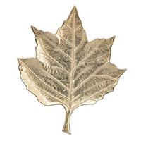 Блюдо-листок Exner Gros алюминиевое малого размера, фото