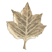 Блюдо-листок Exner Gros алюминиевое большое, фото