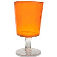 Бокал для вина Villa d'Este оранжевого цвета, фото