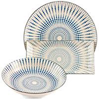 Набор из трех блюд Villa d'Este белый с синим узором, фото