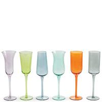 Разноцветный набор бокалов Villa D'este Cromia 200мл 6шт, фото