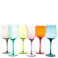 Набор разноцветных бокалов Villa D'este Cromia 420мл 6шт, фото