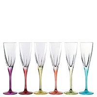 Набор бокалов для шампанского RCR Fusion 6 шт, фото