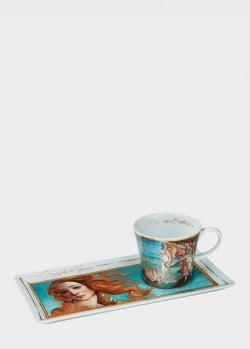 Чашка с блюдцем Goebel Artis Orbis Весенние Цветы 20x10x7,5см, фото