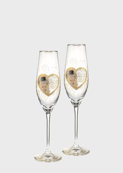 Набор бокалов для шампанского Goebel Artis Orbis Поцелуй 2шт, фото