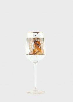 Бокал Goebel Artis Orbis Зодиак 25см стилизован под картину Альфонса Мухи, фото