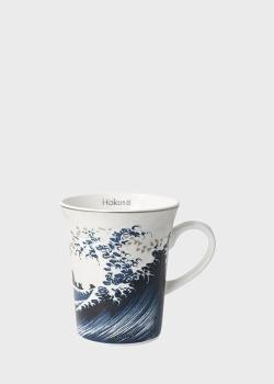 Чашка Goebel Artis Orbis Волна II 13см стилизована под картину Кацусика Хокусай, фото