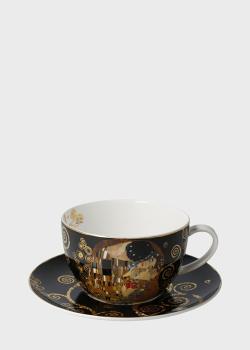 Чашка с блюдцем для капучино Goebel Artis Orbis Поцелуй 0,5л, фото