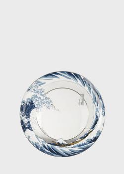 Тарелка Goebel Artis Orbis Волна 23см стилизована под картину Кацусики Хокусай, фото